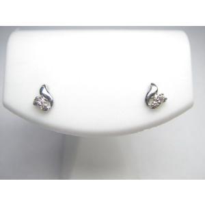 ダイヤモンド4石 18金 ホワイトゴールド ピアス|alljewelry