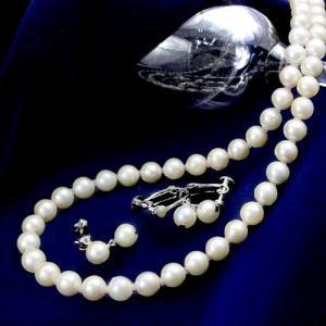 あこや本真珠6.5-7.0mmネックレス2点セット【選べるピアス/イヤリング】【鑑別書付き】 alljewelry