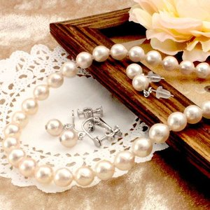 あこや本真珠7.0-7.5mmネックレス2点セット【選べるピアス/イヤリング】【鑑別書付き】 alljewelry