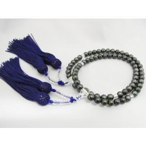 【両手念珠(黒)】 あこや本真珠 7.0〜7.5mm 人絹/紫房|alljewelry