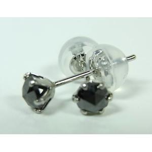 プラチナ ブラックダイヤモンド ピアス 0,3CT|alljewelry|03
