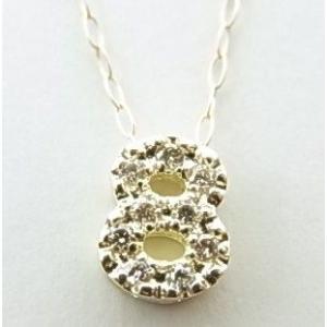 K10YGダイヤナンバーペンダントネックレス|alljewelry|02
