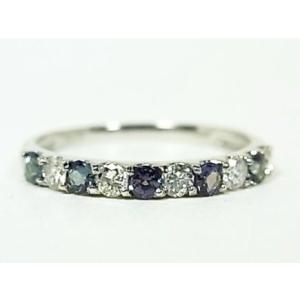 プラチナ ダイヤ & 天然 アレキサンドライトリング|alljewelry