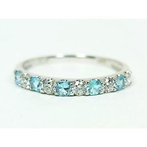 プラチナ ダイヤ&パライバトルマリンリング|alljewelry