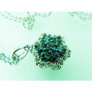 天然 アレキサンドライト フラワー ペンダント ホワイトゴールド K18【誕生石6月】|alljewelry