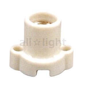 ☆アサヒ E17耳付レセップ(ソケット) 白 セト製 E17口金用 E17-13 alllight