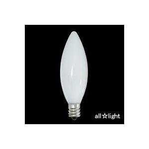 ☆アサヒ 装飾電球(ローソク球) E12口金 C26 110V 10W ホワイト C26 E12 110V-10W(S)|alllight