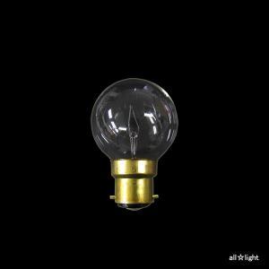 ☆アサヒ ボールランプ(海外口金) クリヤー B22D口金 直径50mm(G50) 25W G50 B22D 100/110V-25W(C)|alllight