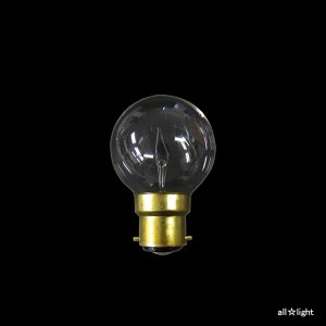 ☆アサヒ ボールランプ(海外口金) クリヤー B22D口金 直径50mm(G50) 60W G50 B22D 100/110V-60W(C)|alllight