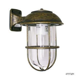 ☆ゴーリキアイランド ポーチライト(ブラケットライト) LICKY(リッキー) 一般電球40Wまで E26口金 屋外用 真鍮古色仕上げ ランプ付 BR5000ANCL|alllight