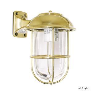 ☆ゴーリキアイランド ポーチライト(ブラケットライト) LICKY(リッキー) 一般電球40Wまで E26口金 屋外用 真鍮磨き仕上げ(ゴールド) ランプ付 BR5000CL|alllight
