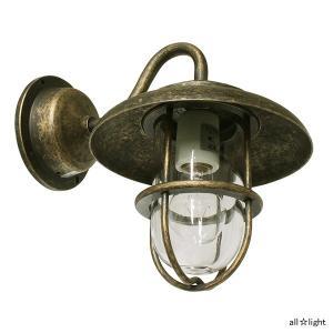 ☆ゴーリキアイランド ポーチライト(ブラケットライト) PETE(ピート) ミニ電球40Wまで E17口金 屋外用 真鍮古色仕上げ ランプ付 BR1760ANCL|alllight