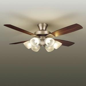 ☆DAIKO LEDシーリングファン 簡易取付式 (ランプ・リモコンスイッチ付) 6.0W電球色×6灯 正転逆転切替 風量3段切替機能付 AS-566|alllight