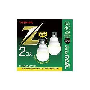 ☆東芝 電球形蛍光ランプ(蛍光灯) ネオボールZリアル 40W形 A形 昼白色 E17 [2個入り] EFA10EN/8-E17-S-2P≪特別限定セール!≫≪あすつく対応商品≫|alllight