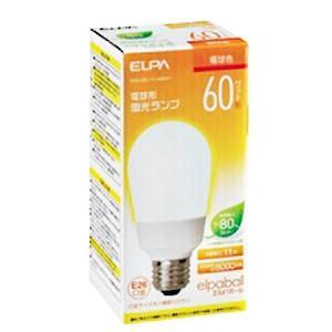 ☆ELPA エルパボール 電球形蛍光ランプ(蛍光灯ランプ) A形 60W形 3波長形電球色 E26口金 EFA15EL/11-A062H|alllight
