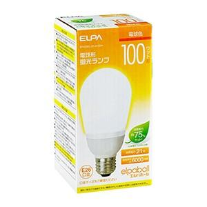 ☆ELPA エルパボール 電球形蛍光ランプ(蛍光灯ランプ) A形 100W形 3波長形電球色 E26口金 EFA25EL/21-A102H|alllight