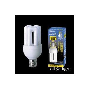 ☆東芝 電球形蛍光ランプ(蛍光灯) ネオボールZ 40W形 D形 3波長形昼光色 E17口金 EFD10ED/9-E17|alllight
