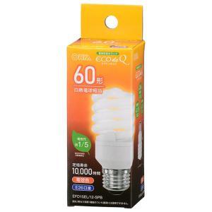 オーム電機 電球形蛍光灯(蛍光ランプ) D形 エコデンキュウ スパイラル形 60形(60W形) 3波長形電球色 E26口金 EFD15EL/12-SPB (06-3772)|alllight