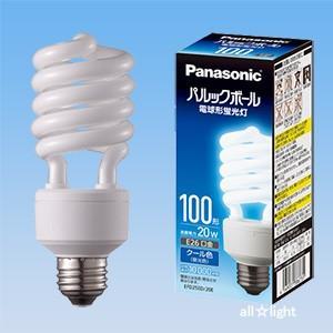 ☆パナソニック 電球形蛍光灯(蛍光ランプ) パルックボール D形 100W形 クール色 E26口金 EFD25ED/20E|alllight