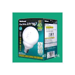 ☆パナソニック 電球形蛍光灯(蛍光ランプ) パルックボールスパイラル G形 40W形 ナチュラル色 E26口金 EFG10EN/8|alllight