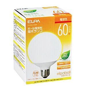 ☆ELPA エルパボール 電球形蛍光ランプ(蛍光灯ランプ) G形 ボール電球形 60W形 3波長形電球色 E26口金 EFG15EL/12-G062H alllight