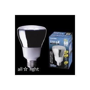 ☆東芝 電球形蛍光ランプ(蛍光灯) ネオボールZ レフランプ形 60W形 3波長形昼光色 E26口金 EFR12ED|alllight