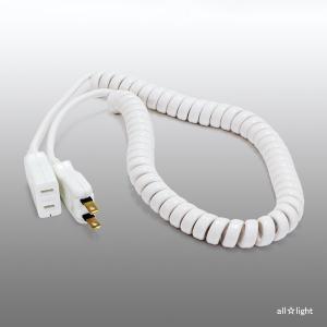 ☆新東電器 カール延長コード 3m 使用最大伸長1.8m 電源延長用 2P 1個口 JCL-3M alllight