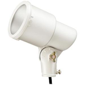 ☆岩崎 K形アイランプホルダ(投光器) 屋外用 フードなし レフランプ・セルフバラスト水銀ランプ用 E26 白色(ホワイト) 口出線0.2m K0/W|alllight