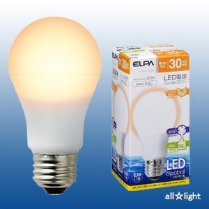☆ELPA エルパボール LED電球 一般電球タイプ 広配光タイプ 4.0W 電球色相当 E26口金 325lm 30W相当 LDA4L-G-G589 ≪特別限定セール!≫ ≪あすつく対応≫