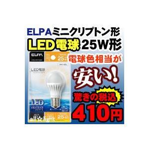 ☆ELPA エルパボール LED電球 ミニクリプトンタイプ 4.0W 電球色相当 E17口金 外径35mm 25W相当 【単品】 ≪特別限定セール!≫ ≪あすつく対応商品≫