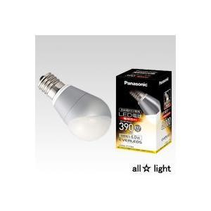 ☆パナソニック LED電球 EVERLEDS(エバーレッズ) 小形電球タイプ  斜め取付け専用 電球色相当 E17口金 直下照度ミニクリプトン電球40W相当 390lm LDA6L-E17/BH|alllight