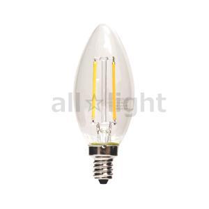 東京メタル工業 LED電球 LEDフィラメントタイプ電球 シャンデリア球形 クリアタイプ シャンデリア球25W形相当 電球色 E12口金 全方向タイプ LDC2LC25WE12T2|alllight