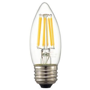 ☆オーム電機 LEDフィラメントタイプ電球 シャンデリア球形 クリアタイプ シャンデリア球60W相当 電球色 E26口金 LDC6L C6(06-3470) alllight