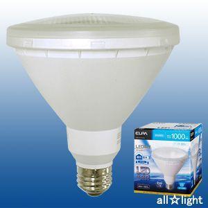 ☆ELPA エルパボール LED電球 ビームランプタイプ 14.0W 昼光色相当 E26口金 1000lm 屋内・屋外兼用 外径122mm 【10個入り】 LDR14D-M-G050|alllight