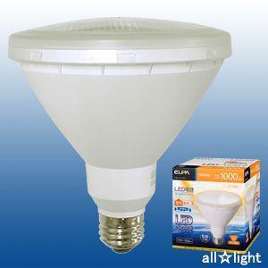 ☆ELPA エルパボール LED電球 ビームランプタイプ 15.0W 電球色相当 E26口金 1000lm 屋内・屋外兼用 外径122mm 【単品】 LDR15L-M-G051|alllight