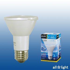 ☆ELPA エルパボール LED電球 ビームランプタイプ 5.7W 昼光色相当 E26口金 440lm 屋内・屋外兼用 外径63mm LDR6D-W-G052|alllight