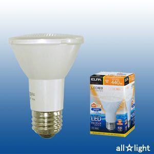☆ELPA エルパボール LED電球 ビームランプタイプ 6.0W 電球色相当 E26口金 440lm 屋内・屋外兼用 外径63mm LDR6L-W-G053|alllight