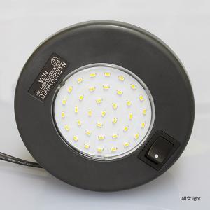 ☆ノア 家具用LED照明(什器用) ダウンライト 丸形 黒 コード長150mm PC付 電球色 ワンタッチ式 取付穴φ90mm 1.4W 直下照度400lx(30cm直下) N-LED2014NSD|alllight