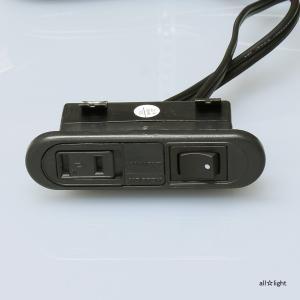 ☆ノア 家具用コンセント(什器用) スイッチ付スライドコンセント 黒 VFFコード2m ワンタッチ式 スイッチ連動メスプラグ付 1500Wまで NSC-5708黒|alllight