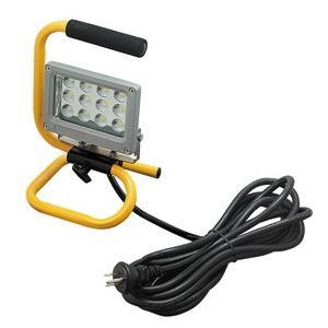 ☆ジェフコム 投光器型作業灯 LED投光器 スタンド型 12Wタイプ 完全防雨・防湿・防塵 屋外用(IP65) 760lm 白熱電球60W相当 昼光色 PDS-0112S|alllight