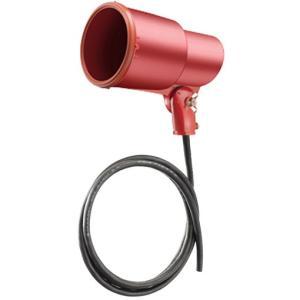 ☆岩崎 S形アイランプホルダ(投光器) 屋外用 フードなし レフランプ・セルフバラスト水銀ランプ用 E39 赤色(レッド) 口出線1.8m S0-L14|alllight