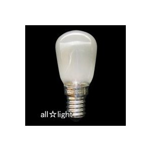 ☆アサヒ ナツメ球(豆球) ST28 E14口金 フロスト 15W ST28 E14 110V15WF|alllight