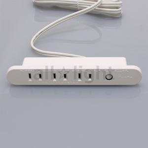 テクノパーツ 家具用コンセント(什器用) 3口コンセント ブレーカー付き 1500Wまで VFFコード1.95m ネジ止め式 白(ホワイト) TPC-153B白 alllight