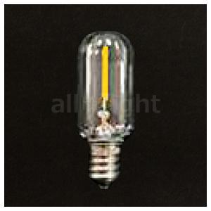 TOZAI フィラメント形ミニ装飾用 AC110V ナツメ球 T20 深赤系電球色(2100K) 0.8W 60lm E12 クリア TZT20E12C-0.8-110/21|alllight