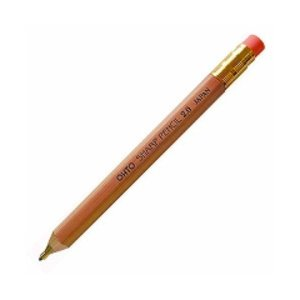 オート シャープペン 木軸シャープ消しゴム付2.0 ナチュラル APS-680E-NT/メール便送料無料|allmail