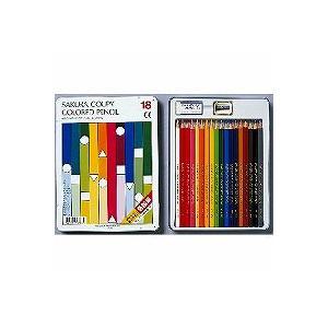 サクラクレパス クーピー色鉛筆18色(スタンダード) PFY18/メール便送料無料|allmail
