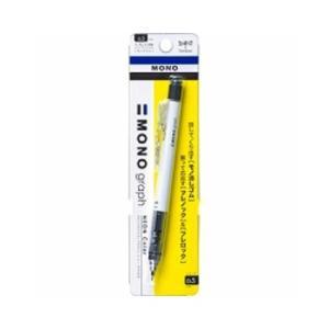 トンボ鉛筆 MONOグラフ シャープペン 0.5mm ネオンカラー (ネオンホワイト)/メール便送料無料 allmail