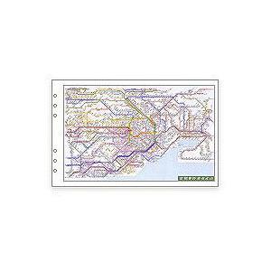 ダ・ヴィンチ リフィル 聖書サイズ 広域鉄道路線図 DR353の商品画像 ナビ