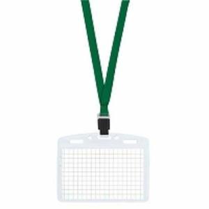 コクヨ ネックストラップ名札 アイドプラス 名刺・IDカードサイズ用 チャック付 緑 ナフ-T180G/メール便送料無料|allmail