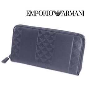4a8e2b169d9f エンポリオ・アルマーニ ラウンドファスナー長財布(小銭入れ付き)ダークブルー EA-166